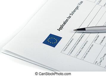 Applicatoin for Schengen Visa - Blank applicatoin for...