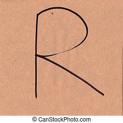 R - Marker on a paper
