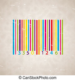 Old scrapped background with barcode. EPS10 vector