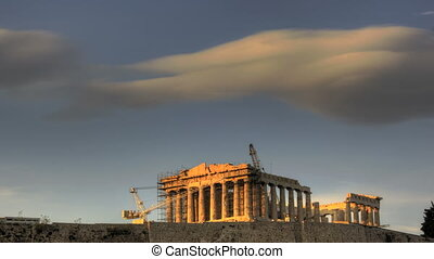 HDR Timelapse Parthenon Acropolis - HDR Timelapse Sunset...