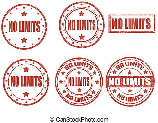 No limit grunge rubber stamps
