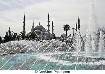 Sultan Ahmed Mosque, Istanbul - Fountain and the Sultan...