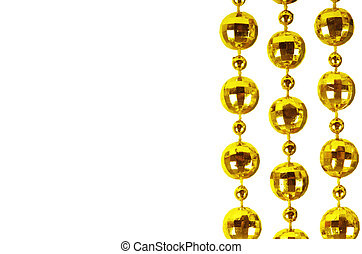 Background made of a brilliant celebratory beads of golden...