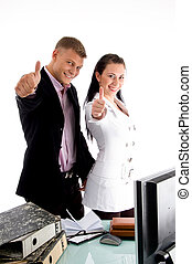 business people wishing goodluck
