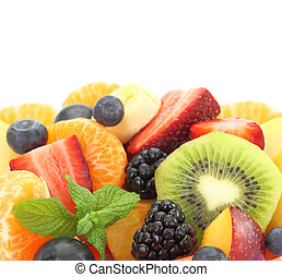 Close up of fresh mixed fruit salad