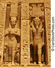 Abu Simbel, Egypt: The magnificent Temple of godess Hathor...