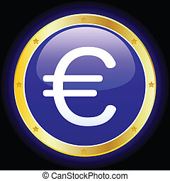 euro sign - vector illustration of euro sign