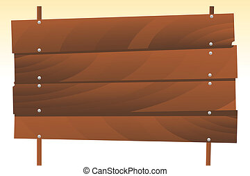 wooden signboard - vector illustration of a wooden signboard