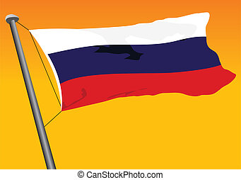 Russian flag - vector flag of Russia