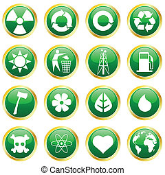 environmental icons - vector set of environmental icons