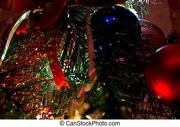 Inside of a Christmas Tree
