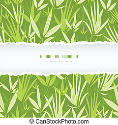 Bamboo branches torn frame seamless pattern background -...
