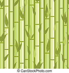 Bamboo stems and leaves seamless pattern background
