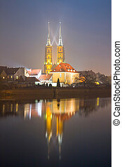 saint john the baptist cathedral in wroclaw, poland