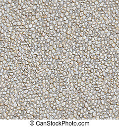 Seamless Texture of Pebble Stones - Seamless Tileable...