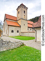 The Red Monastery, ancient chapel in Red Cloister complex in...