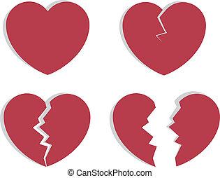 Heart Breaking  - Heart splitting and breaking apart