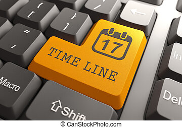 Keyboard with Time Line Button. - Time Management Concept....