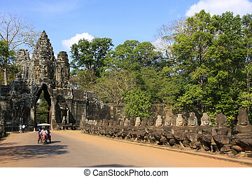 South Gate of Angkor Thom, Angkor area, Siem Reap, Cambodia