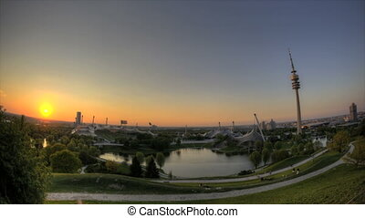 Munich Olympic Stadium - Timelapse Munich Olympic Stadium in...