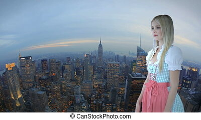 Woman in front of New York