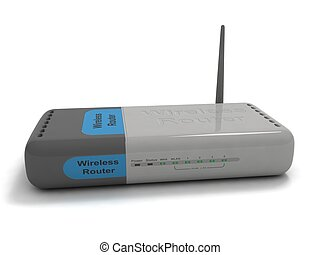 wireless router - 3D isolated wireless router