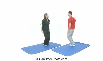 Sport exercise for two jumping jack
