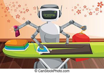 Robot ironing clothes