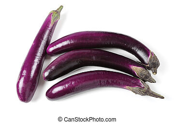 Eggplant on white background