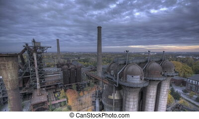 Industrial Park HDR dark - HDR Time lapse Industry park...
