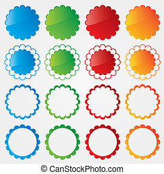 Colorful price tags collection.  Special offer set