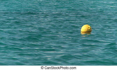 Ocean - Yellow Buoy in the ocean