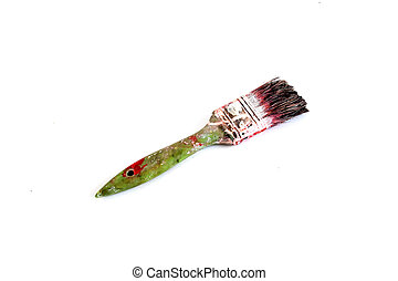 brush - used blotted paint brush