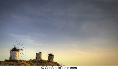 Three Windmills on Naxos