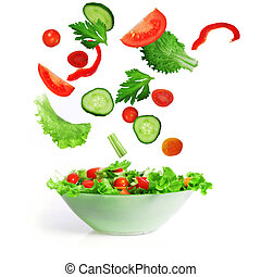 salad with vegetable - salad with lettuce and other fresh...