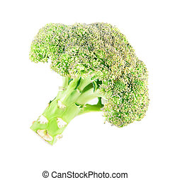 Broccoli isolated on white background - Broccoli vegetable...