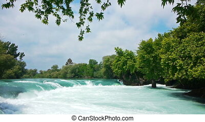 Manavgat waterfall near Side in Turkey