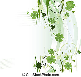 clover background for st. patrick's day