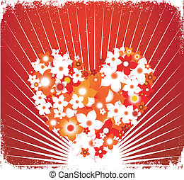 valentine`s day - floral heart background for valentine`s...