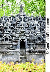 Buddist temple Borobudur Yogyakarta Java, Indonesia - the...