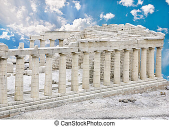 Parthenon Temple in Acropolis, Athens, Greece - The...