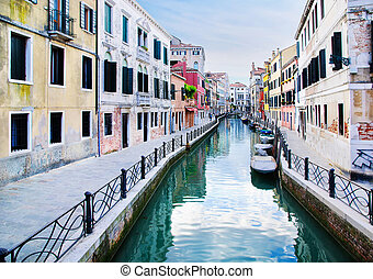 small Venice canal Italy, Europe
