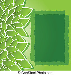 green background with leaves