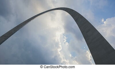 St Louis Arch - Timelapse St Louis Arch with dramatic clouds...