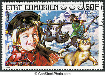 COMORES - 1976: shows Peter and the Wolf, series Fairy Tales...