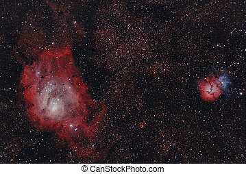 infrared nebulaes - Real astronomic picture taken using...