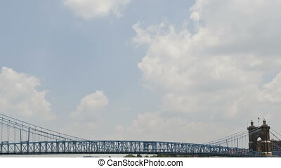 John A Roebling Suspension Bridge in Cincinnati