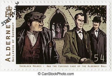 ALDERNEY - 2009: shows Sherlock Holmes