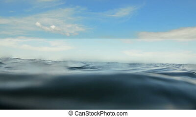 waves of an ocean at the surface