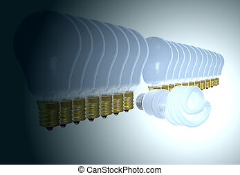 Bright idea. - Innovation, out of the crowd, bright idea...
